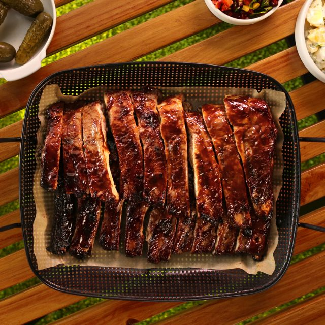 Sticky Bbq Pork Ribs With Potato Salad Australian Pork