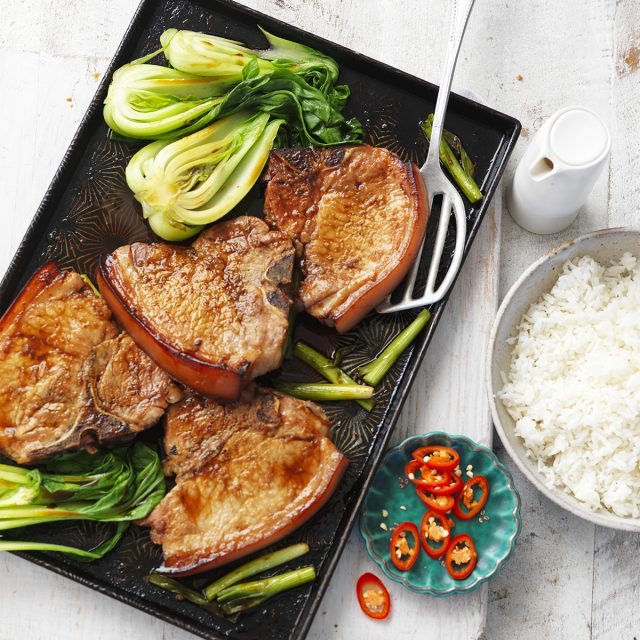 Tray Baked Honey Soy Pork Chops Australian Pork